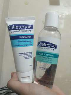 Celeteque Toner and Moisturizer