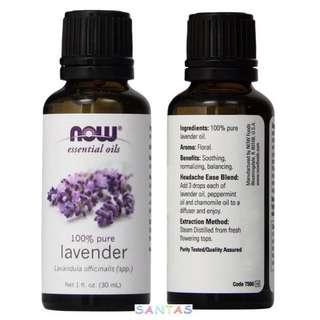 美國 NOW 薰衣草香薰精油 30ml 100% Pure lavender Essential Oil