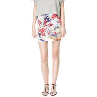 Zara Tropical Floral Skirt