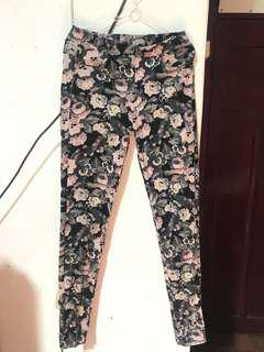 Soft Jeans Wanita Vintage Flower