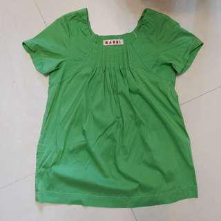 Marni green top (SF inclusive 包順豐)