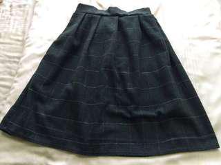 Azorias Green Midi Skirt