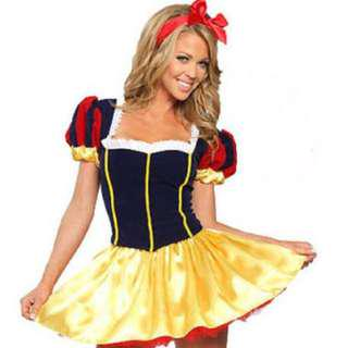 😆FREE SHIPPING* under 500g😆🎃Disney Costume 🎃Adult Snow White FAIRYTALE Costume