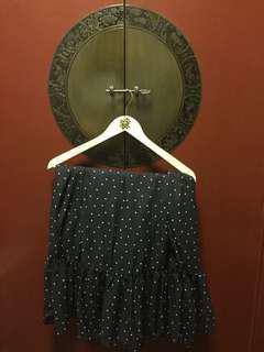 NEW Black &White Dots long skirt