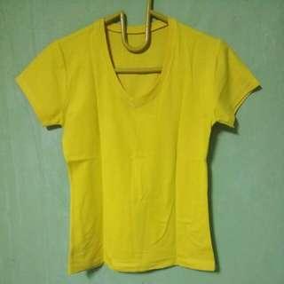 Kaos oblong kuning lemon