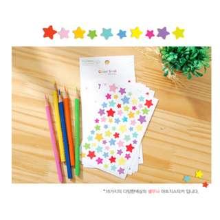 Funny Sticker World Color Seal  星星漸變色相紙貼/記事本貼/便條貼/玻璃貼 made in Korea