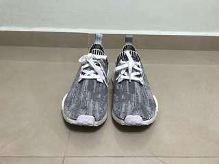 Adidas NMD White Camo Glitch Primeknit Custom