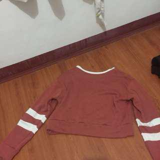 Crop Varsity Pullover