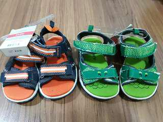 2 pairs Carter's boy toddler shoes - size 5