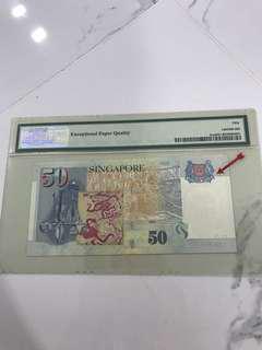 $50 Singapore error note
