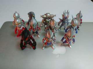 咸蛋超人 Ultraman converge series 1 and 2 共12隻齊底座