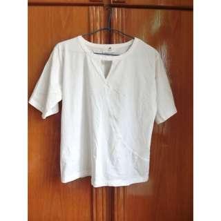 🚚 Hola ohla 白色 短袖上衣 tshirt 素t