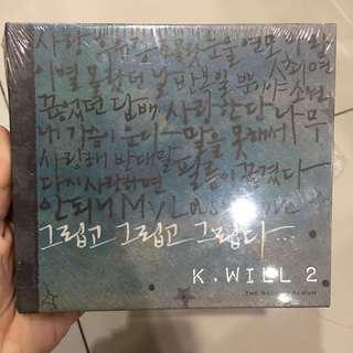 CD original K-Will 2nd album