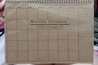 A4size萬用Monthly planner