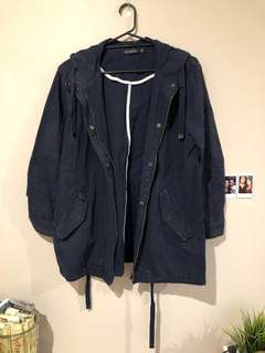 Navy Parker jacket