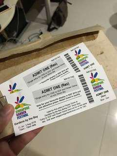 SINGAPORE GARDEN FESTIVAL GBTB TICKETS (INCLUDES ENTRY TO FLOWER DOME)