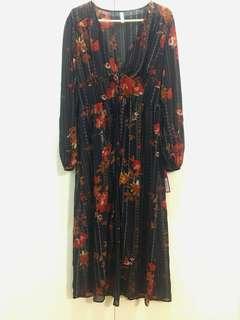 xhilaration Long Open-front Flowy Dress