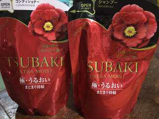 Tsubaki Extra Moist Shampoo and Conditioner