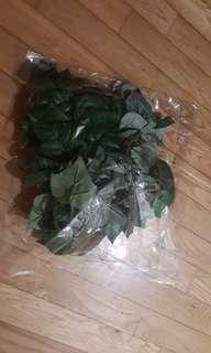 Fabric leaves vine
