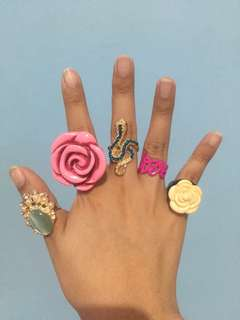 Assorted cocktail rings bundle