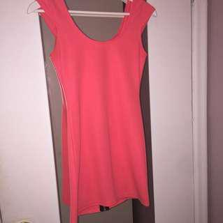 H&M Salmon coloured mini dress