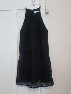Talulah Strappy Black Lace Dress sz xs
