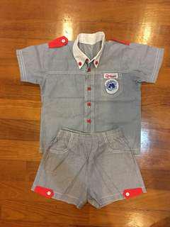Qdees boy uniform - size S