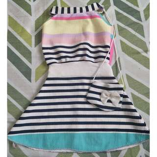 Cute dress with attached sling bag