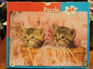 購自荷蘭 荷蘭出品 100% New 全新 貓貓 砌圖 拼圖 Kittens Puzzle 100塊 100 pieces