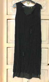 Black Dress in crepe material Maternity Dress