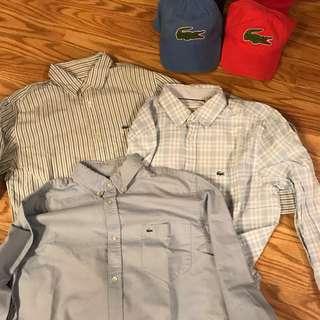 Authentic 🔥👔💯👌 Lacoste button front dress shirts