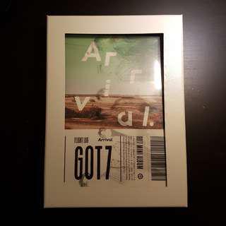 got7 flight log : arrival unsealed album ( green ver. )