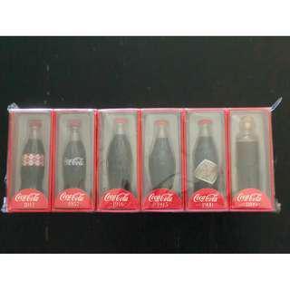 可口可樂125週年迷你玻璃瓶1套6枝