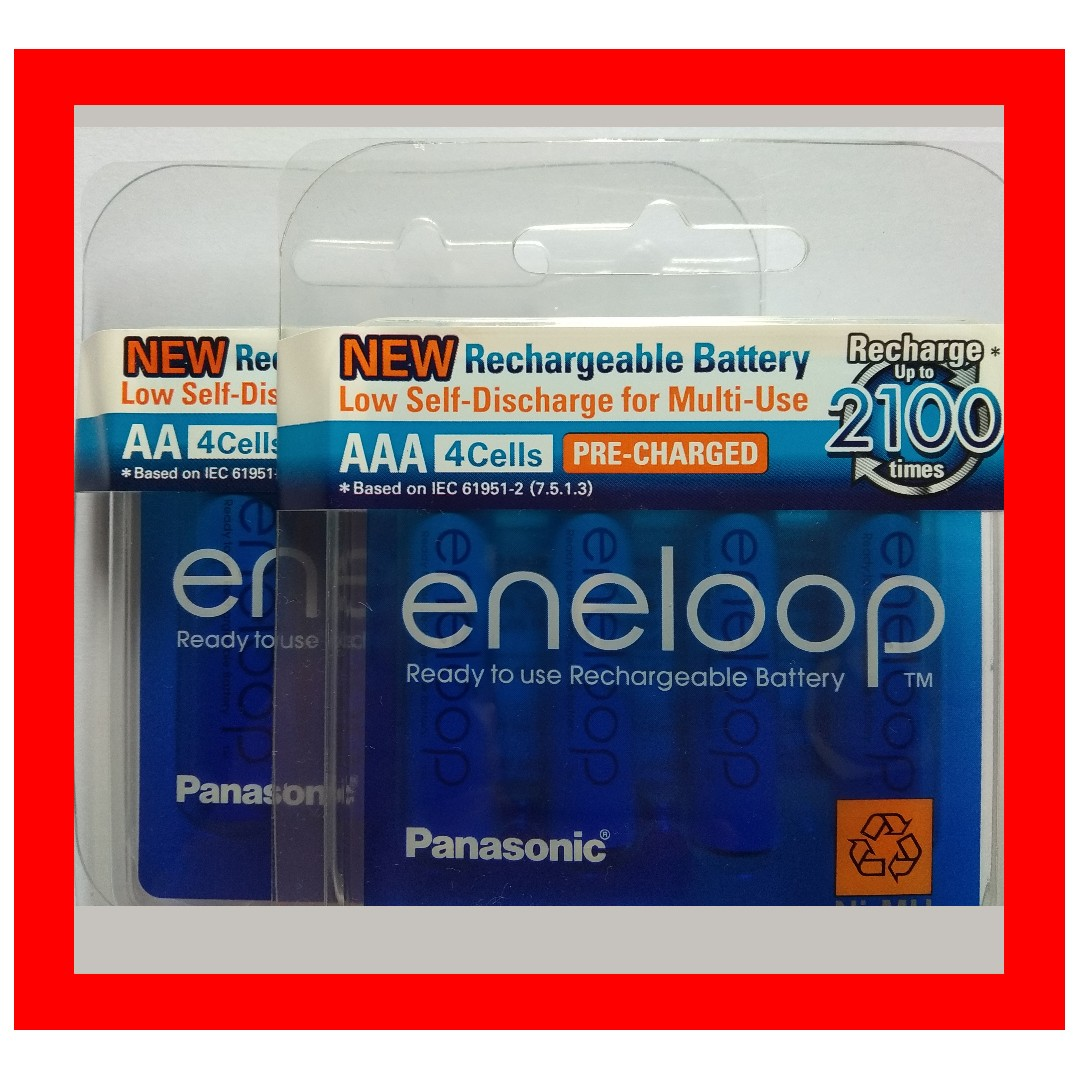 4 Pieces Pack Aaa Aa Panasonic Sanyo Rechargeable Chargeable Eneloop Battery 2pcs Camera Everything Else On Carousell