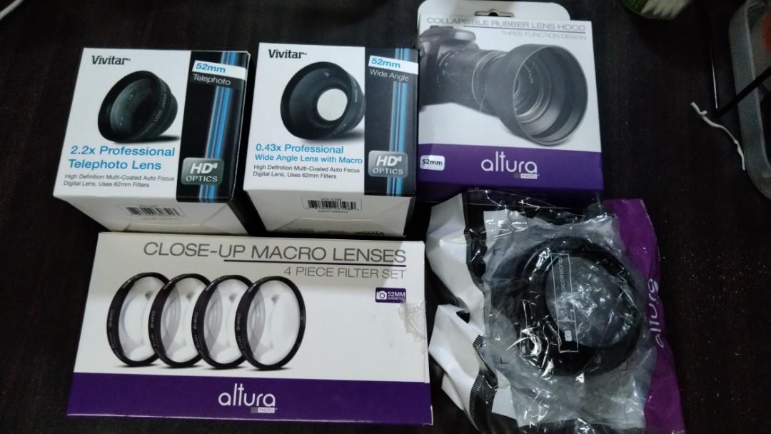 52mm Camera Lens Accessories, Vivitar/Altura on Carousell