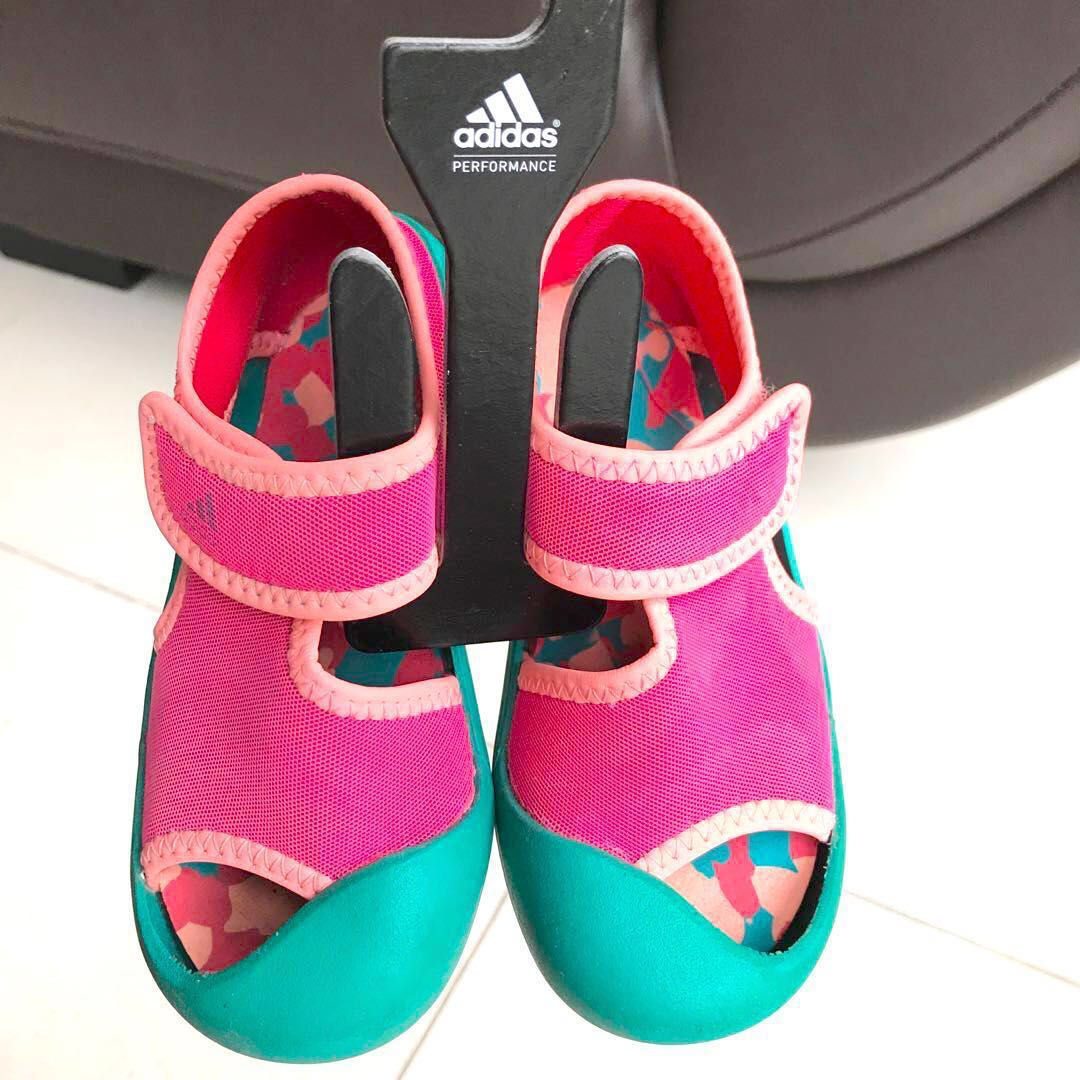 70ebf886e Adidas Kids Girls Sandal Fun 1 Shoes Slip-ons Touch Fastener (Approx 2.5-4  yrs)