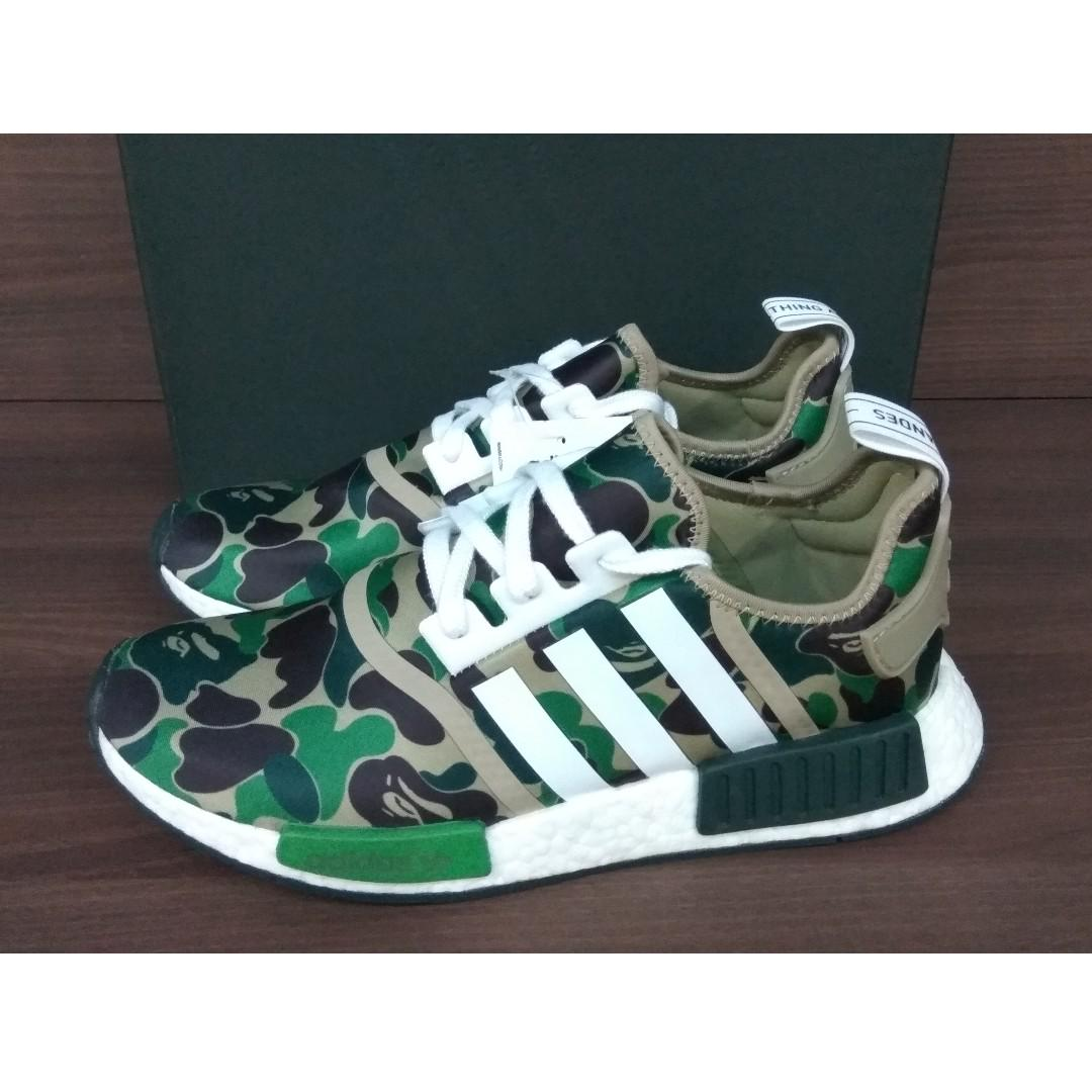 designer fashion 835aa 7dcc9 Adidas NMD R1 Bape Olive Camo, Men's Fashion, Footwear ...