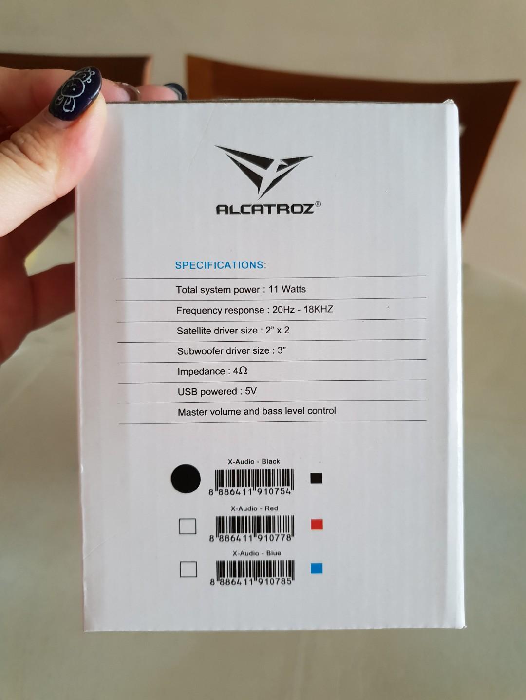Alcatroz X-Audio 2 1 Speaker System