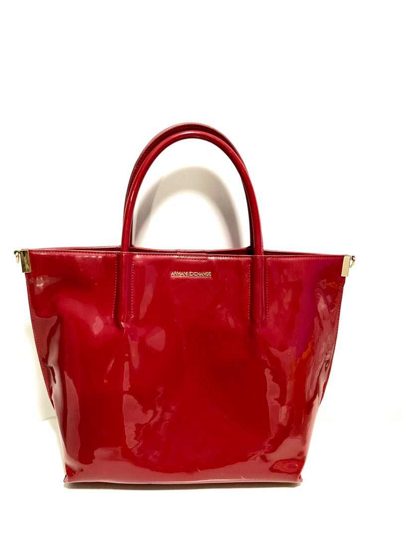 brand new detailed look best supplier Armani Exchange red bag