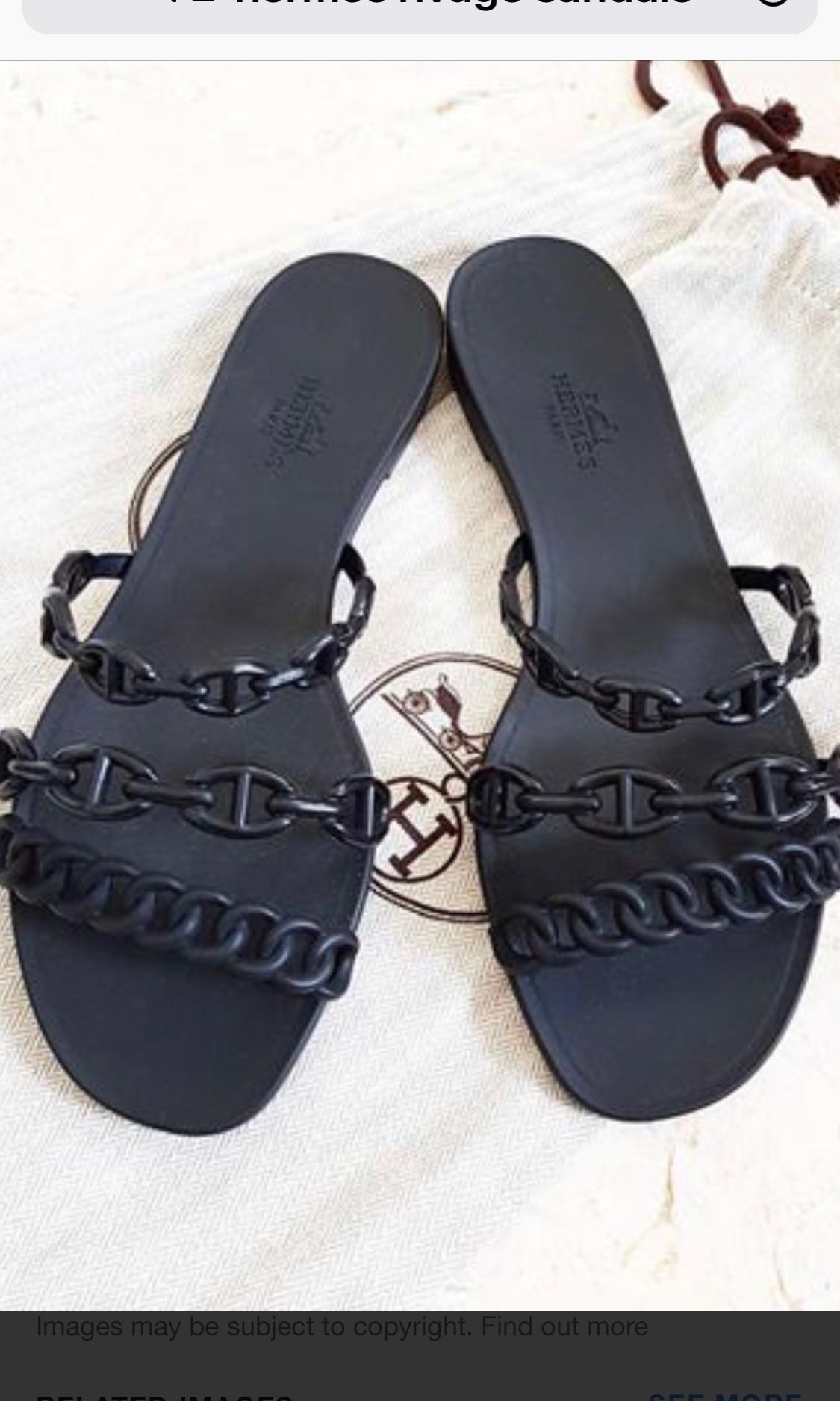 315acf4e9 Authentic Hermes rivage sandals size 37