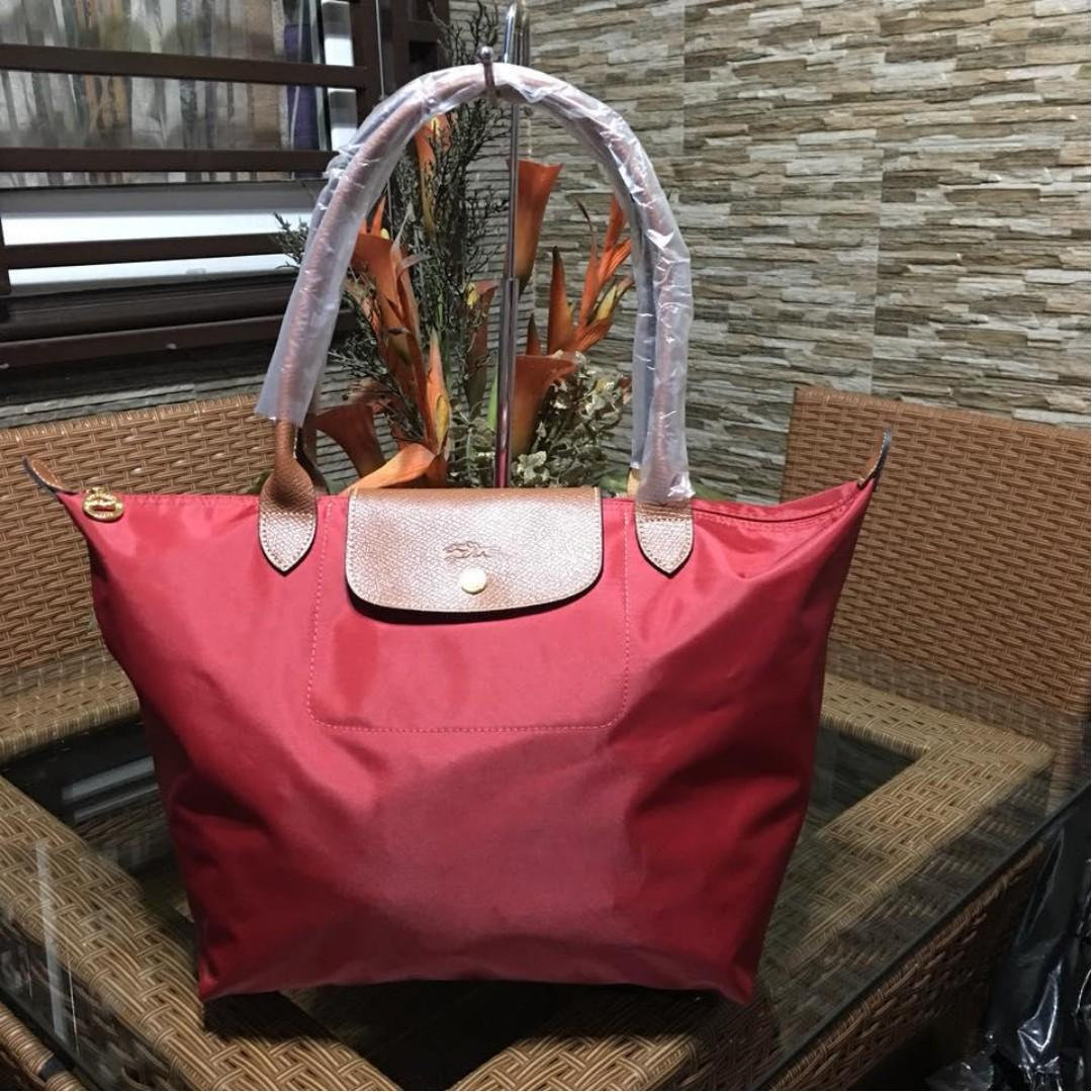 1bf732cab0 Authentic Original Longchamp LE Pliage Neo Tote Bag Long Handle Shoulder Bag  FOLDABLE from Vietnam Large Size Women's Bag RED on Carousell
