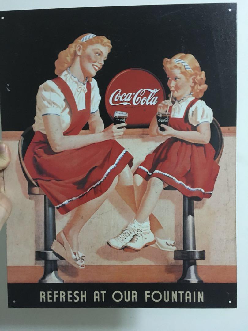 Authentic Vintage Coca Cola Metal Sign