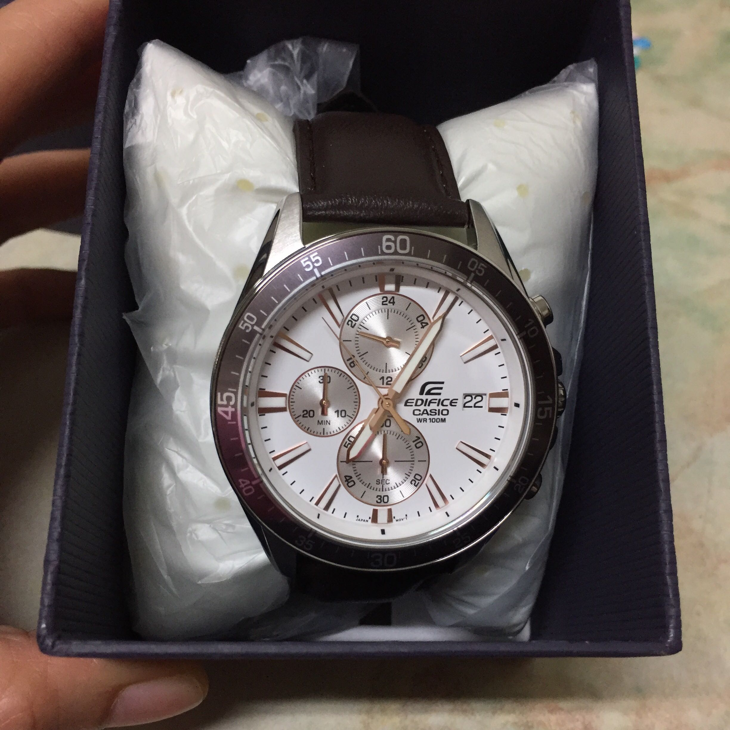 Casio Edifice Watch Efr 546l 7a Mens Fashion Watches On Carousell 543d Stainless Silver Chrono Men