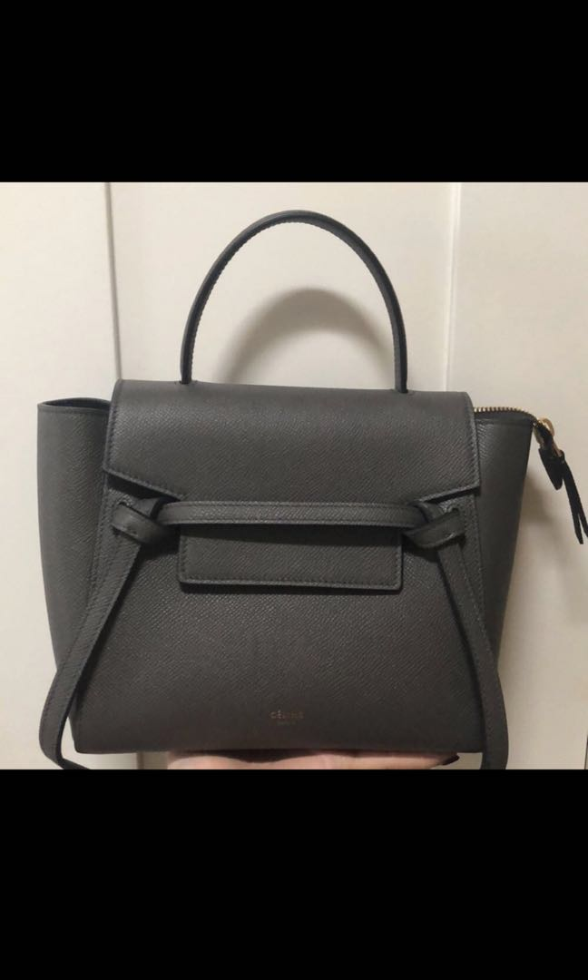 d189b8a4bd Celine Nano Belt Bag in Grey