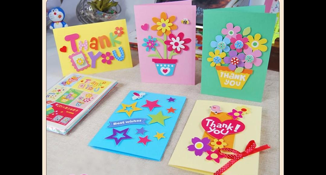 closed diy teacher day card design  craft handmade