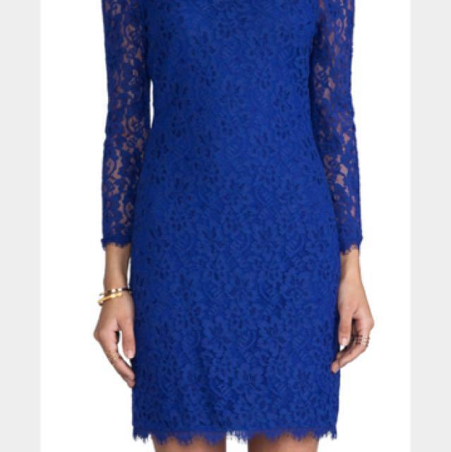 DVF new with Tags Zarita Cobalt blue dress