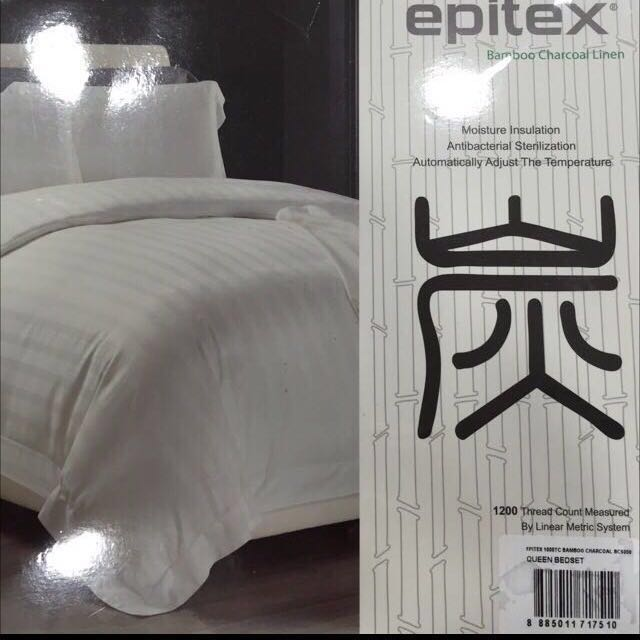 Epitex Premium 1200 Thread Count Bedlinen Set, Furniture, Home Decor,  Cushions U0026 Linen On Carousell