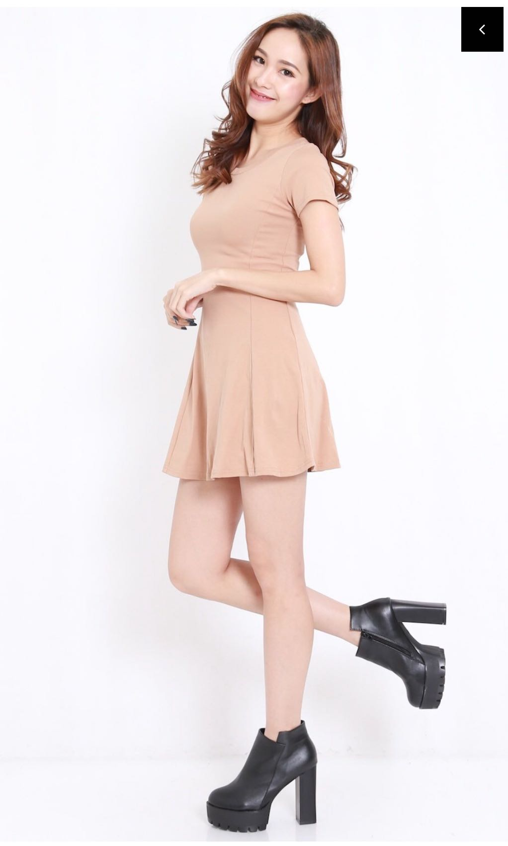 feebb89bf Fitted Skater Dress (nude), Women's Fashion, Clothes, Dresses ...