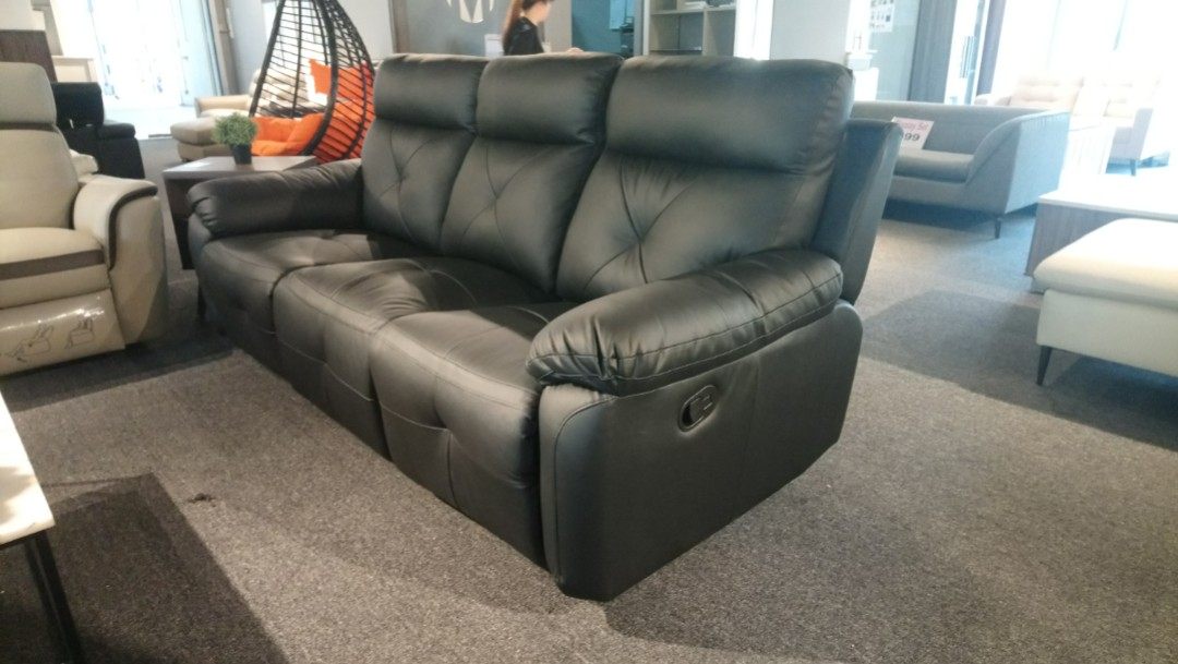Genuine Leather Recliner Sofa Furniture Sofas On Carousell