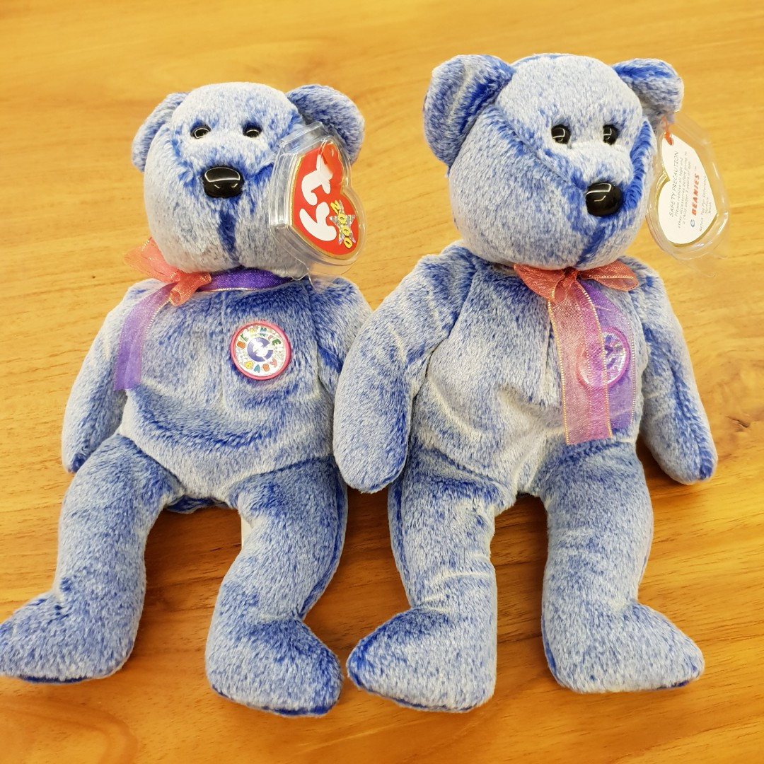 4a0dd7ac44f GENUINE TY BEANIE BABY - Periwinkle - Beanie E Baby. 2 available ...